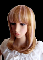 Shoulder Length Blonde Daily Doll Wig