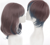 Coulple's Face Framing Brown Lolia Short Wig off