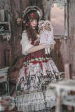 Doll Izutsu~ Classic Lolita JSK Dress-Ready Made Wine M + Headbow - In Stock