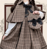 Honey Machien ~Little Detective~  British Style Lolita JSK + Cape Set -Ready Made