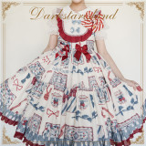 Antique Tea Party ~Sweet Printed Lolita High Waist JSK -Pre-order