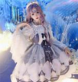Diamond Honey ~Shell Cross Chiffon Lolita JSK -Ready Made
