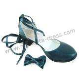 Dark Blue Bow Straps Lolita Sandals