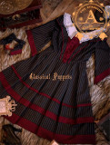 Little Sister Of  Cambridge~ College Style Stripe Lolita OP -Ready Made