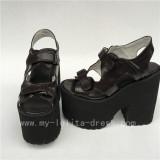 Unique Coffee Matte Lolita High Platform Shoes