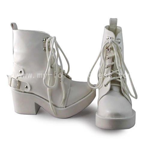 Matt White Girls Short Boots