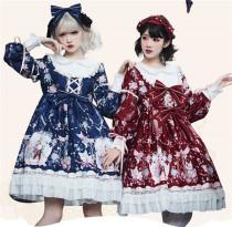2019 Sweet Winter Printed Lolita OP