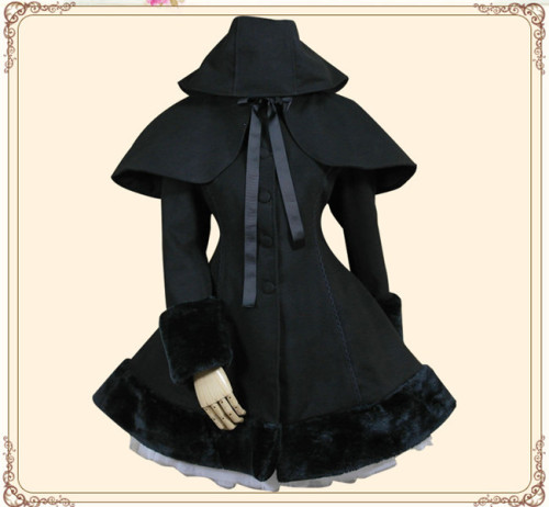Lolita Princess Sweet Winter Slim Lolita Coat&Cape