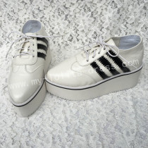 Sweet White Lolita High Platform with Black Striped