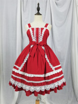 Antique Dolls ~Lolita High Waist JSK Dress -Pre-order