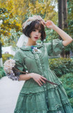 The Bank Where the Wild Thyme Blows~ Flower Embroidery Lolita OP out