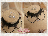 Cutie Creator Lace Beadchain Lolita Choker and Earrings Sets