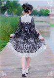 Theological Seminary~ Vintage Lolita OP Dress -Ready Made
