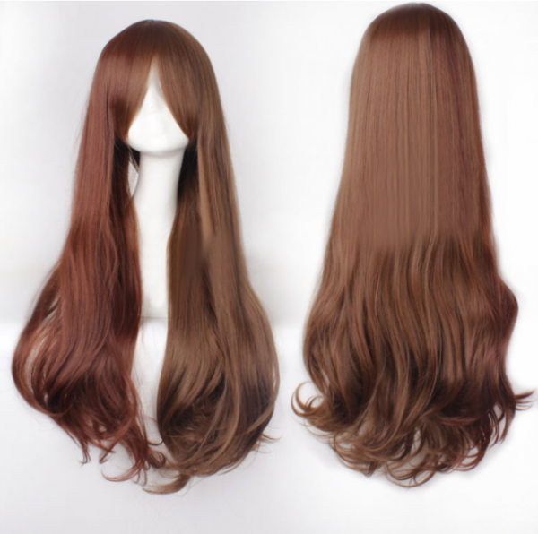 Girl's Brown Long Curls Sweet Lolita Wig
