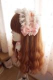 Neverland Lolita ***Sweet Afternoon Tea*** High Waist Lolita OP Pink L In Stock