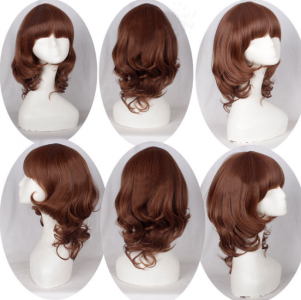 Lady's Brown Curls Loita Short Wig