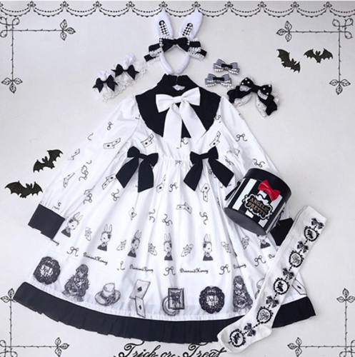 Paper Doll~ Sweet Lolita Long Sleeves OP -Ready Made