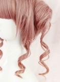 Red Brown Face Framing Ponytail Bun Lolita Wig