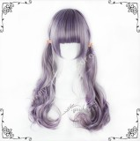 70cm Purple Brown Curls Lolita Wig