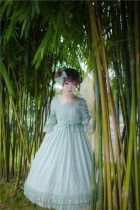 IchigoMikou ~Drizzle & Thin Clouds~ Qi Lolita OP Dress - In Stock