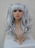 Silvery Grey Girls Curly Lolita Long Wig