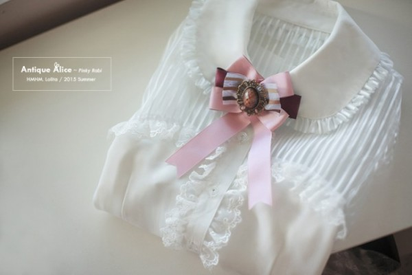 HMHM Lolita ~Antique Alice~ Translucent Striped Chiffon Lolita Blouse