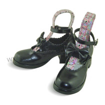 Black Bow Lolita Shoes