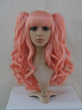 Orange Pink Curls Lolita Wig