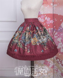 Strawberry Witch~ Chibor's Fairytale Dream Lolita Skirt -Ready Made