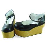 Black High Platform Lolita Footwear