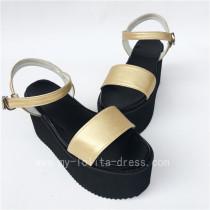 High Platform Golden Belts Lolita Sandals