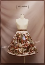 Teddy Home College School Style Skirt L+Headdress-  IN STOCK