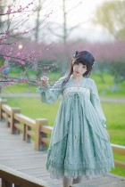 IchigoMikou ~Drizzle & Thin Clouds~ Hanfu Style Dress Qi Lolita Dress -IN STOCK