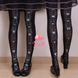 Girls' Dream Lace Gold Lolita Velvet Tights