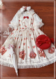 Dear Celine ~ Strawberry Ice Cream~ Fake Two Pieces Lolita OP -Ready Made