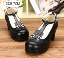 Angelic Imprint- Elegant Violin-shaped Straps Lolita Heels Shoes