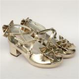 Sweet Bows Cross Straps Lolita Heels Shoes