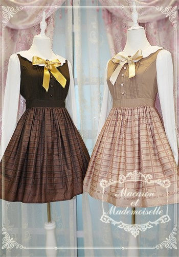 Chess Story -Macaron et Mademoiselle-Lolita Long Sleeves OP Dress