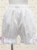 White Ruffles Lolita Bloomers