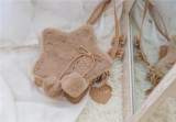 Repair of Love/Star~ Sweet Lolita Fur Hand Bag/Cross-body Bag -Ready Made