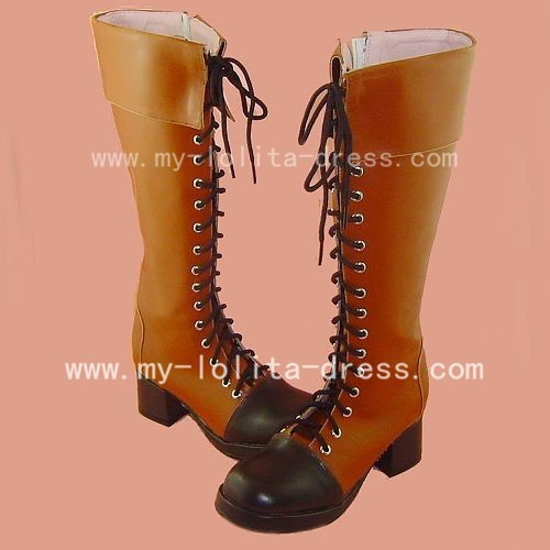 Classic Light Brown Lace Boots