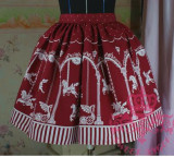 (Replica)Sweet Dream of Lolita Merry-Go-Around Skirt Coffee Average Size-Free Shipping