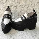 Sweet Black and White Lolita Heels High Platform