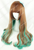 Sweet Brown Green Blended Lolita Curls Wig 2 Colors