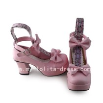 Sweet Pink Square Heel Shoes