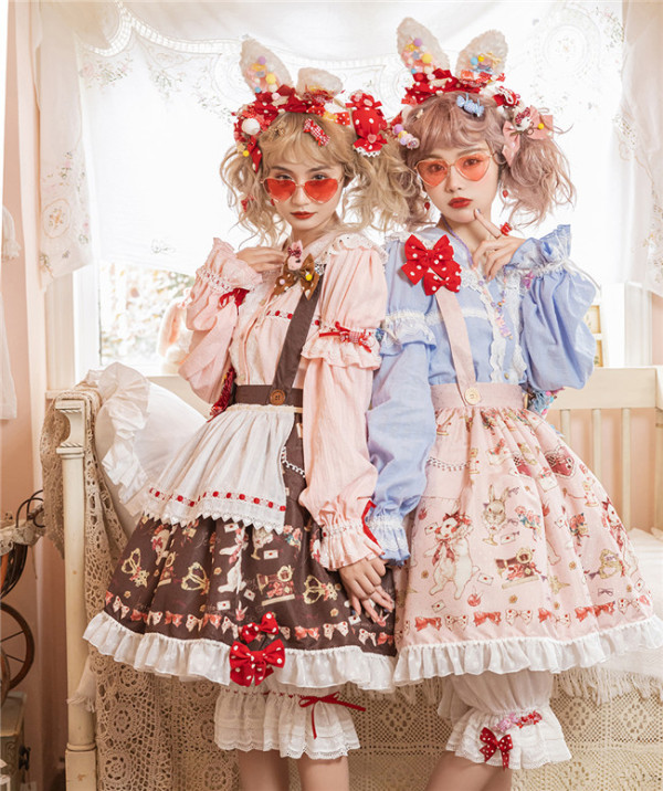 Miss Point ~The Tailor Rabbit Lolita Skirt - In Stock Waist-125cm length-53cm