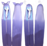 Sweet Purple Blue Long Lolita Straight Wig