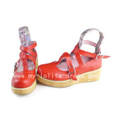 Wood Prints Sole Straps Girls Shoes from Japan Anime