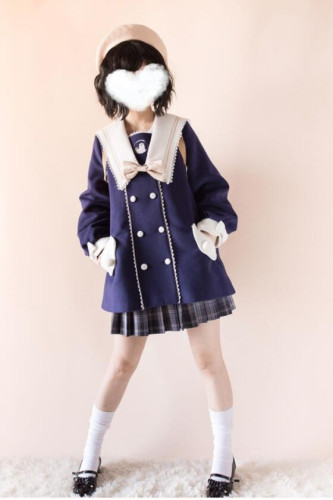 Penny House White Bear Lolita Coat -Ready Made