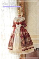 Dear Celine ~Rococo Dream ~ Gorgeous  Lolita Long OP -Ready Made
